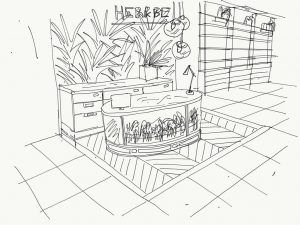 Conoce las últimas tendencias en materiales para tiendas de moda - Herb & Be (Boceto)
