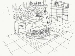 La importancia del croquis en el proceso de diseño de retail - Herb & Be